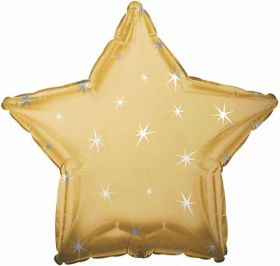Star Sparkle Gold Foil Balloon