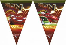 Disney Cars Neon Triangle Flag Banner 2.3m