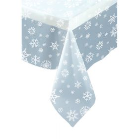 Clear Snowflakes Tablecover