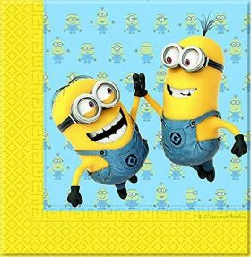 Lovely Minions Napkins pk20, 2 Ply