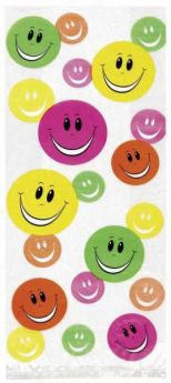 Smiley Gift Bags pk20 with Twist Ties