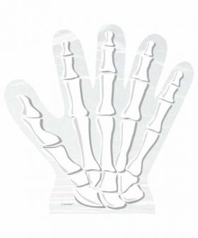 Skeleton Hand Shaped Cello Bags pk10
