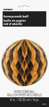 Black & Orange Honeycomb Ball