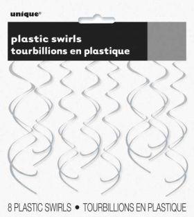 Silver Plastic Swirls