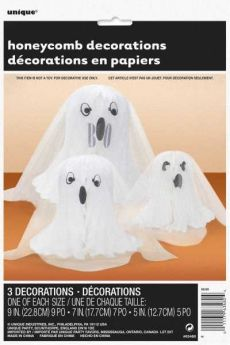 Ghost Shaped Honeycomb Decoration pk3