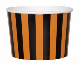 Orange & Black Striped Treat Tubs pk8