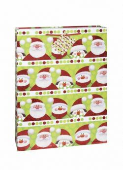 Santa Penguin Fun Gift Bag