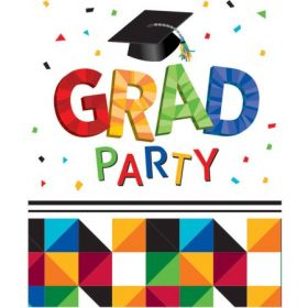 Graduation Party Fractal Fun Invites pk25