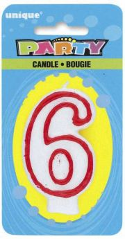 Red & White Party Candle 6