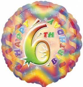 Happy 6th Birthday Circle Foil Balloon
