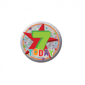 7 Today Birthday Badge
