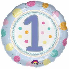 SpotOn 1st Happy Birthday Standard Foil Balloons