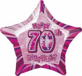 Pink Glitz Star 70 Foil Party Balloon