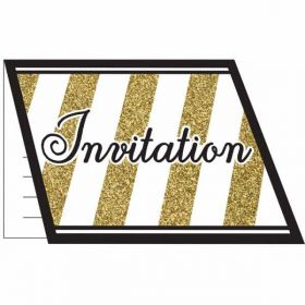 Black & Gold Invitations pk8