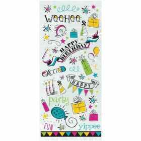 Doodle Happy Birthday Cello Bags pk20