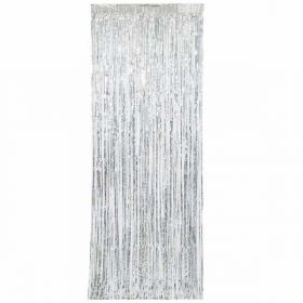 Silver Fringe Door Curtain