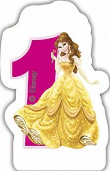 Disney Princess Age 1 Candle
