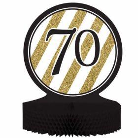 Black & Gold Age 70 Centrepiece