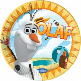 Frozen Olaf Summer Paper Party  Plates pk8