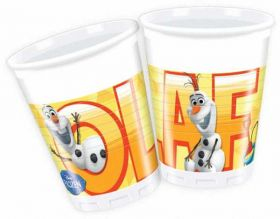 Frozen Olaf Summer Plastic Cups, pk8