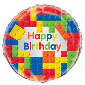Building Blocks Birthday Foil Balloon