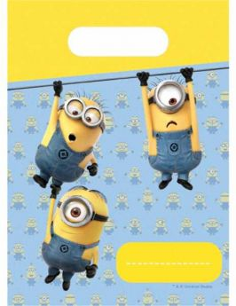 Lovely Minions Plastic Loot Bags pk6