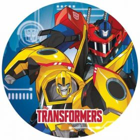 Transformers Robots in Disguise Paper Party Plates pk8 23cm