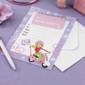 Scooter Girls Party Invitations pk10