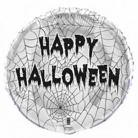 Spider Web Halloween Foil Balloon