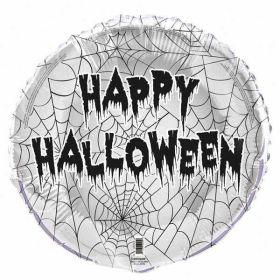 Spider Web Halloween Foil Balloon