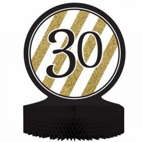 Black & Gold Age 30 Centrepiece