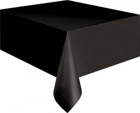 Value Black Plastic Tablecover