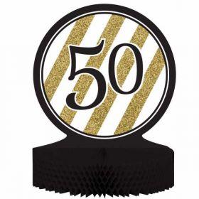 Black & Gold Age 50 Centrepiece