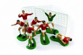 Red Footballers Cake Decoration Set