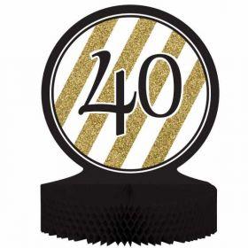 Black & Gold Age 40 Centrepiece