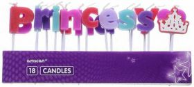 Princess Pick Candles 18pk