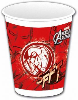 Avengers Teens Plastic Cups 200 ml (IRONMAN) pk8