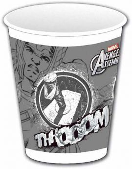Avengers Teens Plastic Cups 200 ml (THOR) pk8