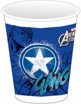Avengers Teens Plastic Cups 200 ml (CAPTAIN AMERICA) pk8