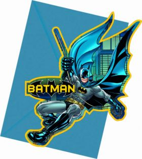Batman Cut-out Invitations pk6