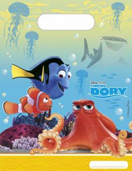 Finding Dory Plastic Party Bags pk6