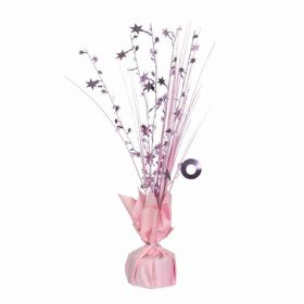New Pink Spray Centrepiece Balloon Weight
