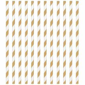 Gold Paper Straws, pk24