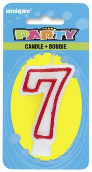 Red & White Party Candle 7