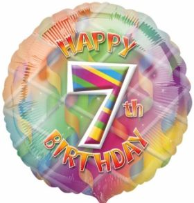 Happy 7th Birthday Circle Foil Balloon