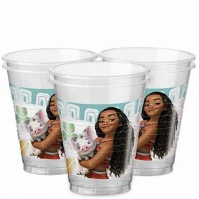 Moana Plastic Party Cups pk8