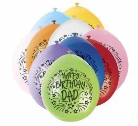 Happy Birthday Dad Balloons pk10