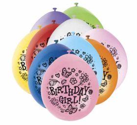 Birthday Girl Balloons pk10