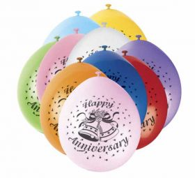 Happy Anniversary Balloons pk10