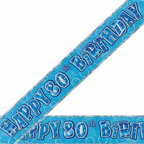 Blue Glitz 80 Prism Banner